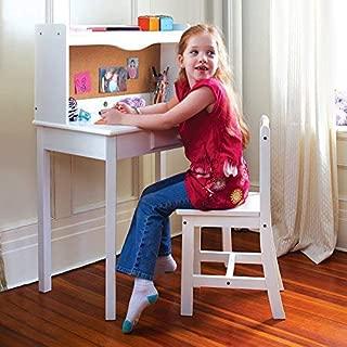 Guidecraft Classic Desk - White: Kids Study Table, Children's Furniture