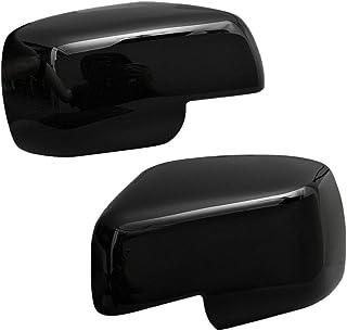 DENGD Adesivi in Fibra di Carbonio ABS Specchietto retrovisore Coperchio Cornice Trim Fit per Suzuki Jimny 2019+
