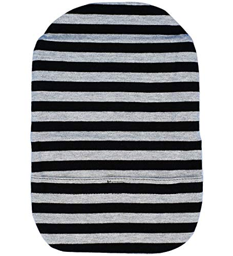 Stretchy Deodorizing Ostomy Pouch Cover D (XL, Light Gray Stripes)