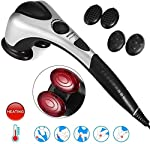FQDS Electric Massage Hammer Tissue Percussion Massager Electric Infrared Physio for Shoulders Legs and Feet Full Body Massage Waist and Legs