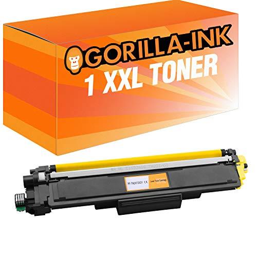 Gorilla-Ink 4 Toner XXL voor Brother TN-243 TN-247 DCP-L3510CDW DCP-L3550CDW HL-L3210CW HL-L3230CDW HL-L3270CDW MFC-L3710CW MFC-L3730CDN MFC-L3750CDW MFC-L3770CDW inclusief chip! (10) 1 x geel.