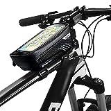 skrskr Bolsas para teléfono de bicicleta con pantalla táctil Funda para teléfono Funda impermeable para bicicleta Marco delantero Montaje en tubo superior Bolsas de manillar Bolsa de almacenamiento de