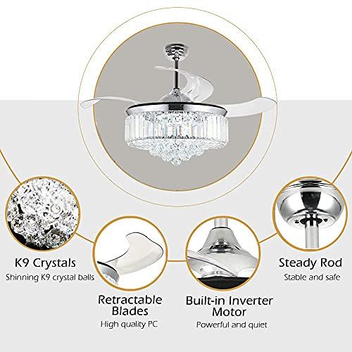 ANTOPY Ventiladores para el techo con lámpara