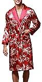 VERNASSA Nuevo Baño para Hombre,Satén Kimono Pijamas, Bata Albornoz de para Dormir/Casa/Cama/SPA, Multicolor, L-XXL, Talla Extra