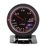 60mm LED Turbo Gauge medidor de impulso, auto aumento de presión de vacío Shell de presión para Auto Racing Car 0-200 Kpa