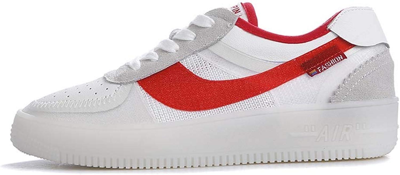 MISS&YG Schuhe weibliche atmungsaktive weiße Schuhe weiblich Leder Casual Schuhe Student net Panel-Schuhe  | Flagship-Store  | Ausgezeichnet  | Moderne Muster