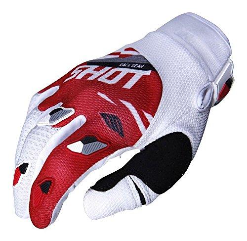 SHOT par de guantes Cross Contacto Score, rojo/blanco, talla XL