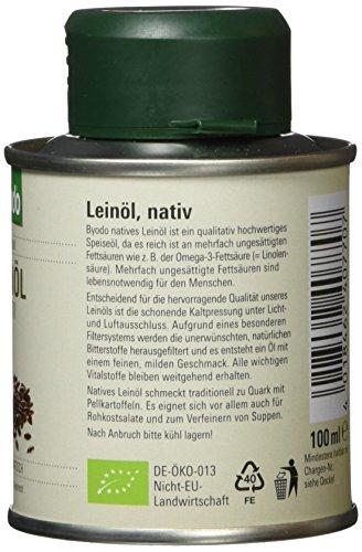Byodo Natives Leinöl, 1er Pack (1 x 100 ml) – Bio - 2
