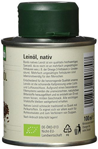 Byodo Natives Leinöl, 1er Pack (1 x 100 ml) – Bio - 2