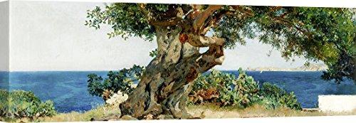 Art Print Cafe – Cuadro – Impresion sobre Lienzo – Joaquín Sorolla y Bastida, Algarrobo – 120x40 cm