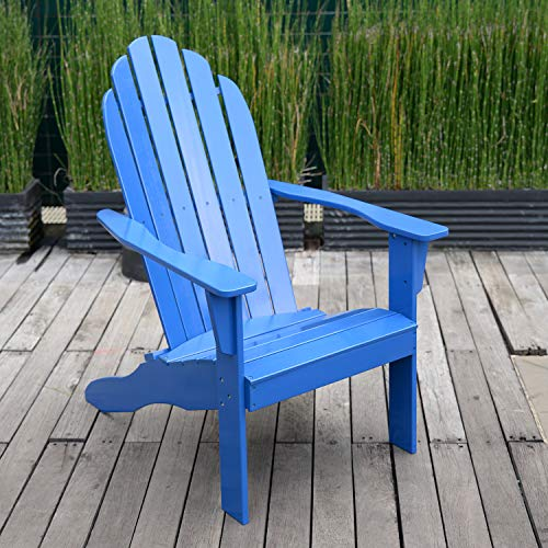 Cambridge Casual AMZ240252BLU Bentley Adirondack Chair Blue