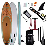 DAMA ISUP Inflatable Stand up Paddle Board (9'6''), fin,Carry Bag,Paddle,Hand Pump,Leash,Repairing kit,Waterproof Phone