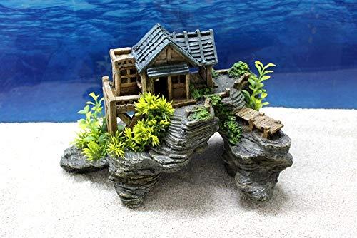 Amtra Blockhaus L Dekoration Aquarium Deko Versteck Steine Felsen Garnelen Haus Fische Dekofigur Dekosteine
