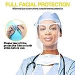 Pantalla de Proteccion Facial, LETOUR 10 Pcs de Cara Completa de Plástico Reutilizable Gafas protect... #4
