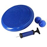 Nvzi Wobble Cushion, Wiggle Seat for Sensory Kids, Balance Disc for Strengthen Core Stability, Flexible Alternative Seating for School, Office, Classroom Furniture, with Spiky Massage Ball (Blue)