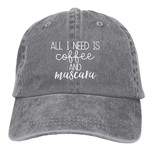 Hoswee Unisex Kappe/Baseballkappe, All I Need is Coffee and Mascara Cowboy Cap Trucker Baseball Hats