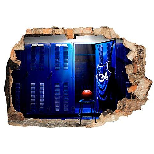 Adhesivo decorativo para pared, diseño de baloncesto