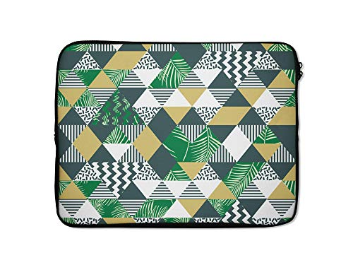 Vintage Laptop Cases Tablet Computer Sleeve 12 13 14 15 15.6 Inch Protective Cover Case Pouch for MacBook HP DELL iPad Macbook Lenovo (9-10 Inch, Triangles Palm Trees)