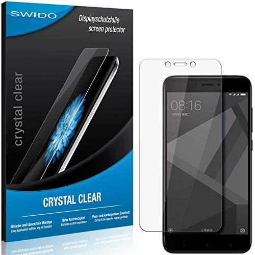 SWIDO Schutzfolie für Xiaomi Redmi 4X [2 Stück] Kristall-Klar, Hoher Festigkeitgrad, Schutz vor Öl, Staub & Kratzer/Glasfolie, Bildschirmschutz, Bildschirmschutzfolie, Panzerglas-Folie