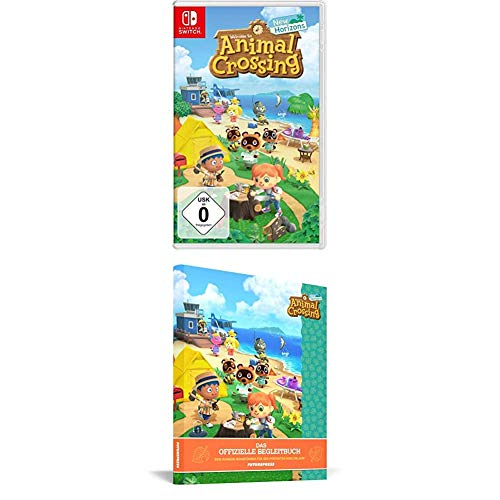 Animal Crossing: New Horizons - [Nintendo Switch] + Animal Crossing: New Horizons – Das offizielle Begleitbuch, Spiel + Lösungsbuch