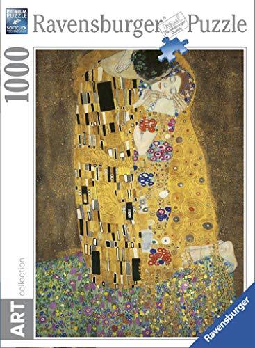 Ravensburger Il Bacio Di Klimt Art Collection, Puzzle per Adulti  con Tecnologia Softclick, Età Consigliata 14+, 1000 Pezzi