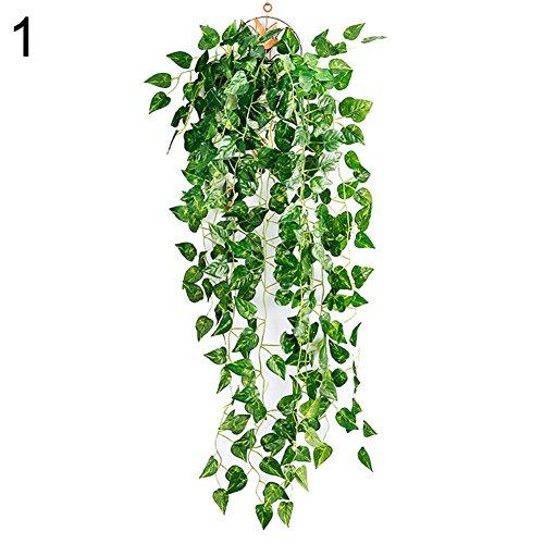 Huhuswwbin Künstliche Pflanzen künstliche künstliche Hängepflanze Blätter Girlande Haus Garten Wand Dekoration – 1#