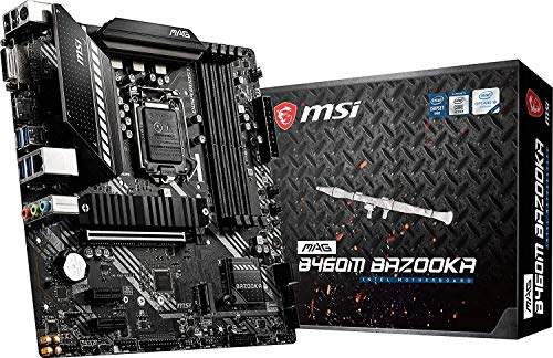 MSI - MAG B460M Bazooka - Placa Base Arsenal Gaming (10th Gen Intel Core, LGA 1200 Socket, DDR4, Doble Ranura M.2, 4x SATA, DVI-D/HDMI)