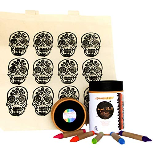 A Childhood Store Sugar Skull Color Your Own Market Tote