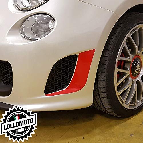 SUPERSTICKI FIAT Abarth Rennstreifen Seitenstreifen Rennsport Racing Tuning Hobby Sticker Decal Deko Aufkleber Sticker Decal aus Hochleistungsfolie Aufkleber Autoaufkleber Tuningaufkleber Racing