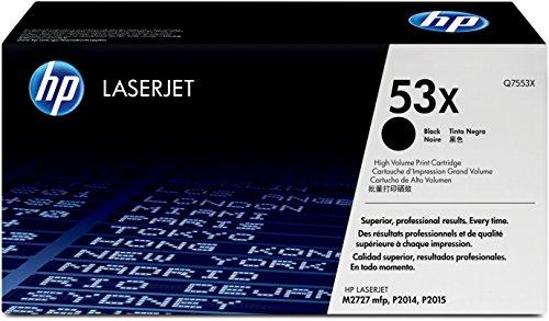 HP 53X (Q7553X) Schwarz Original Toner mit hoher Reichweite für HP Laserjet P2014, P2015, P2015dn, P2015n, P2015x, M2727nf, M2727nfs