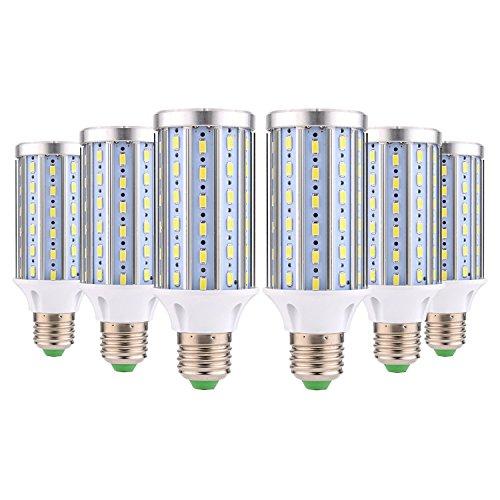 BRIGHTZ Bombilla de luz LED E27 LED bombilla del maíz E26 / E27 72LED Medio Base (25 vatios de recambio equivalente 150W lámpara halógena) Enfriar luz del día la calle LED blanco y la luz al aire libr