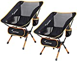 Camping Chair, Sportneer Ultra Light Garden Chair Portable Folding Chair with Carry Bag for Backpacking, Hiking, Picnic, Fishing, Park, Festival, Outdoors, Beach etc (Hold up to 350 lb/158kg) 2 Pack