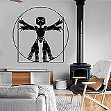 zhuziji Lustige ardo da Vinci Vitruvian Mann Roboter wandaufkleber Vinyl Kunst wohnkultur Wohnzimmer...
