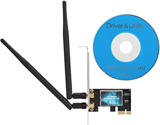 for Win8 for WinVista Wireless Network Card Dual Band 2.4G//5.8G USB WiFi Adapter 1300Mbps for WinXP for Win7 ASHATA Wireless Network Card for Win10; for Linux v3.0.0.1; for MacOS 10.9~10.11