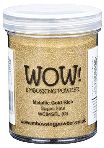 WOW! Groot (160ml JAR) Metallic Goud Rijk Embossing Poeder - Super FINE