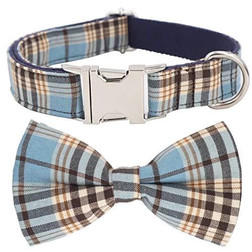 Cuello De Perro Bow Pie Modering Placa para El Tamaño De 5 Talla para Elegir El Mejor Collar De Perro De Boda Comfortable (Color : Collar with Bow, Size : XS.)