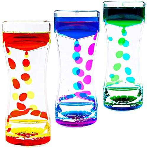 Liquid Motion Bubbler,CAILINK 3Pcs Kids and Adults Relax Sensory Toys,Stress Relief Fidget Water...