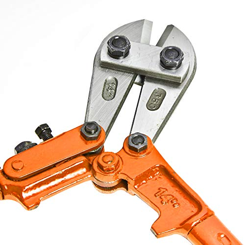 Brackit Coupe-boulon robuste 355 mm en acier inoxydable avec poignées caoutchoutées antidérapantes faciles à prendre en main pour mécanicien, menuiserie, bâtiment, plomberie [couleurs aléatoires]