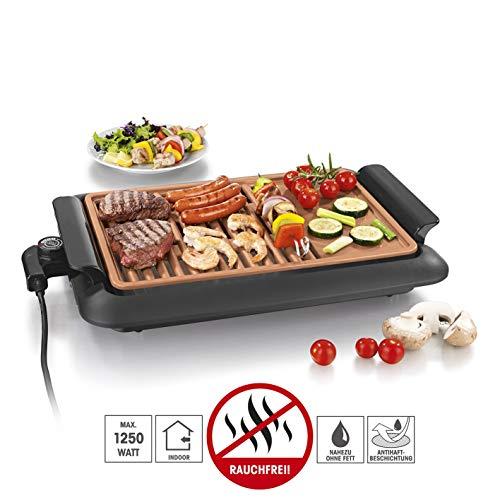 GOURMETmaxx Tischgrill elektrisch Tisch Elektrogrill für Draußen und Drinnen, Grill Platte mit...