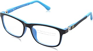 Sponge Bob Rectangular Lens Contrasting Plastic Medical Glasses for Kids - Black & Blue