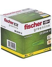Fischer GB Green 10 - Gasbetonnen pluggen van minimaal 50% hernieuwbare grondstoffen voor het bevestigen van brievenbussen, elektrische installaties in poriebeton - 18 stuks - art.nr. 524871
