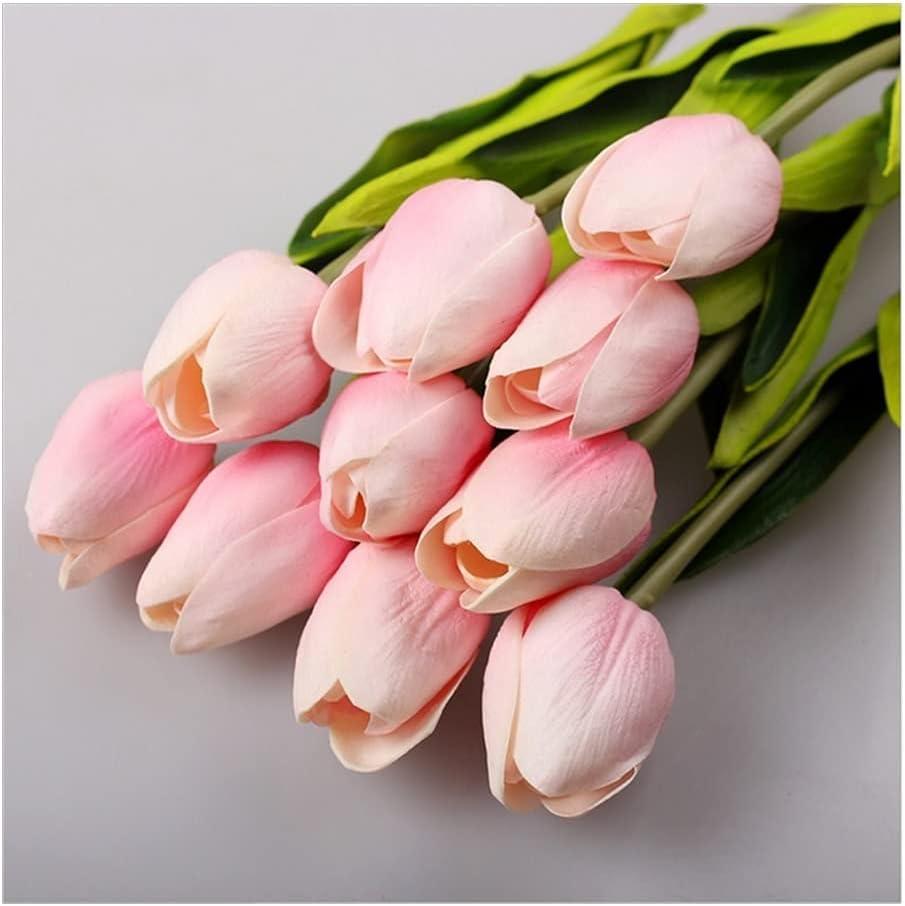 MFLJU Artificial Flowers Faux Plants PU 30Pcs Ranking integrated 1st place Lot Charlotte Mall Artifici Tulip