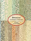 Botanical Endpaper Collection: 20 sheets of vintage endpapers for bookbinding and other paper crafting projects (Vintage Papers for Collage and Paper Crafting)