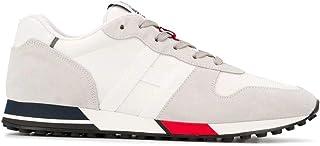 Luxury Fashion   Hogan Men HXM3830AN51JQS194B Grey Leather Sneakers   Spring-summer 20