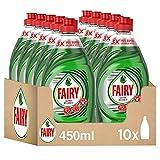 Fairy Ultra Poder Lavavajillas Líquido a Mano, 4.5 L (10 x 450 ml), Óptimo Poder Antigrasa