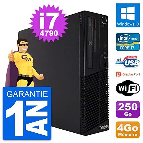 Lenovo PC ThinkCentre M73 SFF Intel i7-4790 RAM 4 GB Disco 250 GB Windows 10 WiFi (reacondicionado)