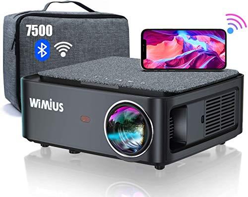 WiFi Bluetooth Projector,WiMiUS K1 7500 L Video Projector Native 1920x1080...