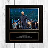 Tom Jones 1 NDB Signed Reproduction Autographed Wall Art - 10 inch x 10 inch Print (Card Mounted)