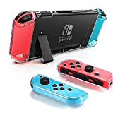 Dockable Clear Case for Nintendo Switch, FANPL Protective Case Cover for Nintendo Switch and Joy Con Controller- Crystal Clear