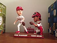 Bobbleheads Adam Wainwright, Yadier Molina Cardinals Baseball Duo, Redbirds (2013 Gold Glove Winners)